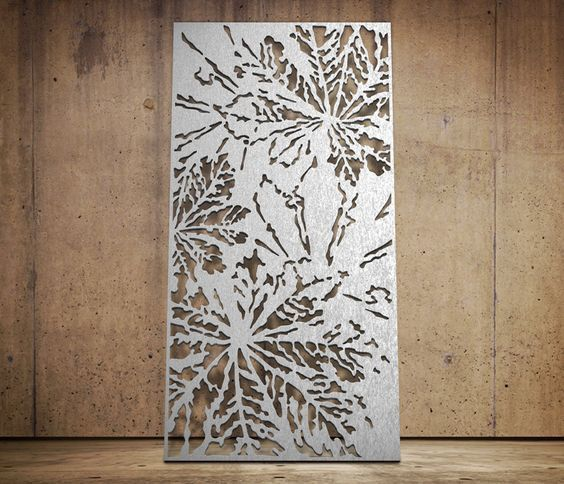 Laser Cutting Stainless Steel Sheet For The Indoor Decoration