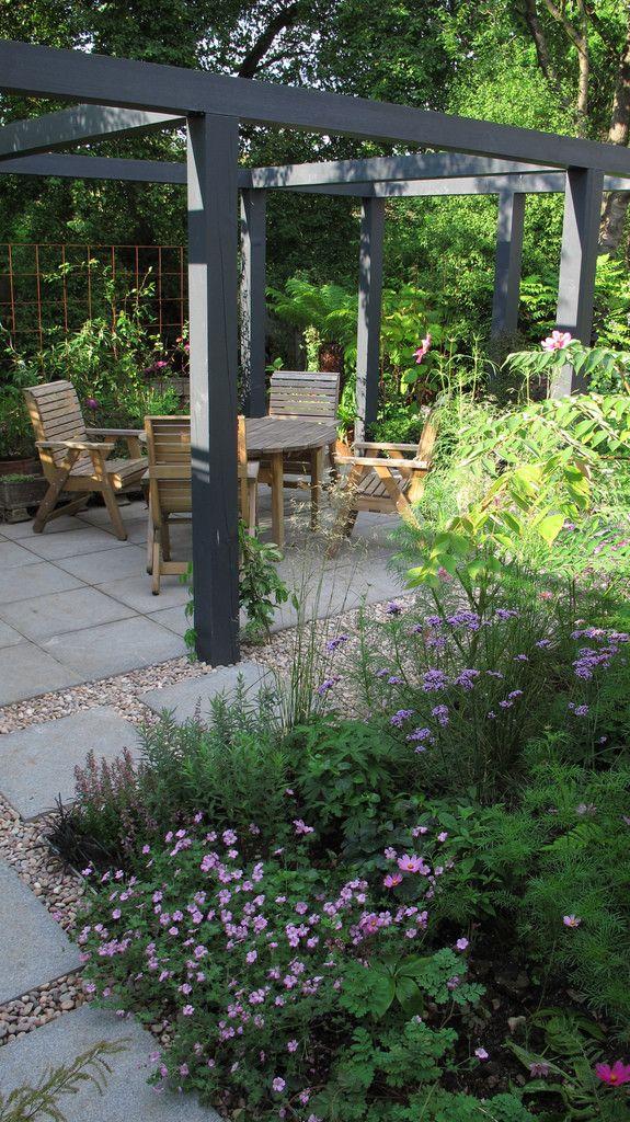 mature garden with pergola hege in france. Black Bedroom Furniture Sets. Home Design Ideas