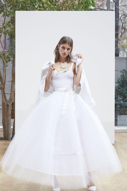 6e6a30b6686 See the complete Oscar de la Renta Bridal Spring 2018 collection. Denim  Wedding Dresses
