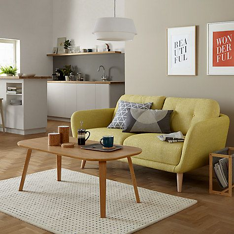 Buy House By John Lewis Arlo Small 2 Seater Sofa Light Leg Riley New Fennel Online At Johnlewis
