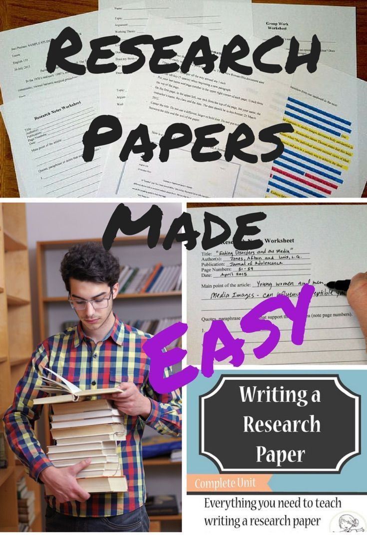 Research papers made easy! This best-selling complete unit has everything you need to teach writing a research paper from start to finish. Everything here is classroom-tested with hundreds of students who have successfully written a research paper. There