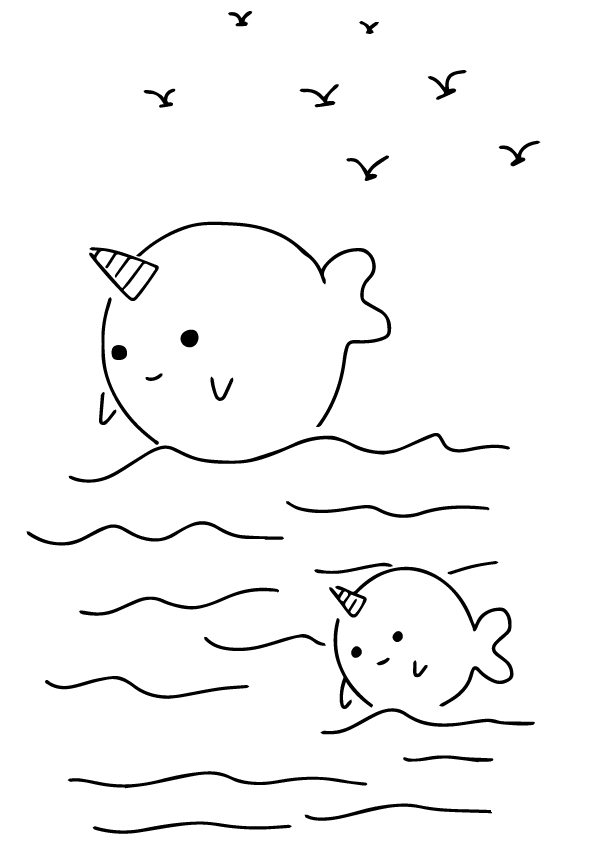 Narwhal Coloring Pages Best Coloring Pages For Kids Whale Coloring Pages Coloring Pages Printable Coloring Pages