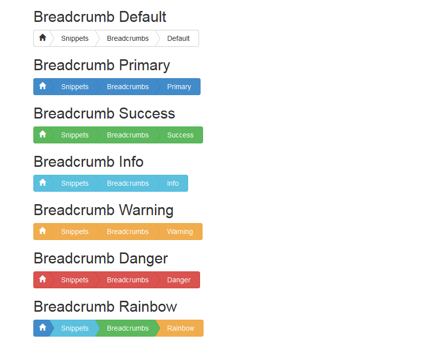 how to create breadcrumbs in html