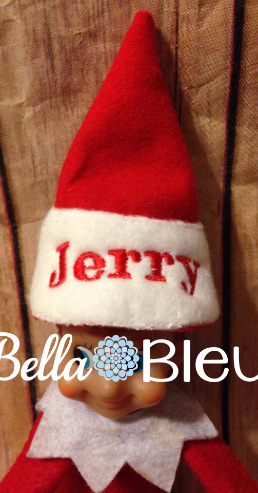 Machine Embroidery Design Ith In The Hoop Elf Or Doll Santa Hat