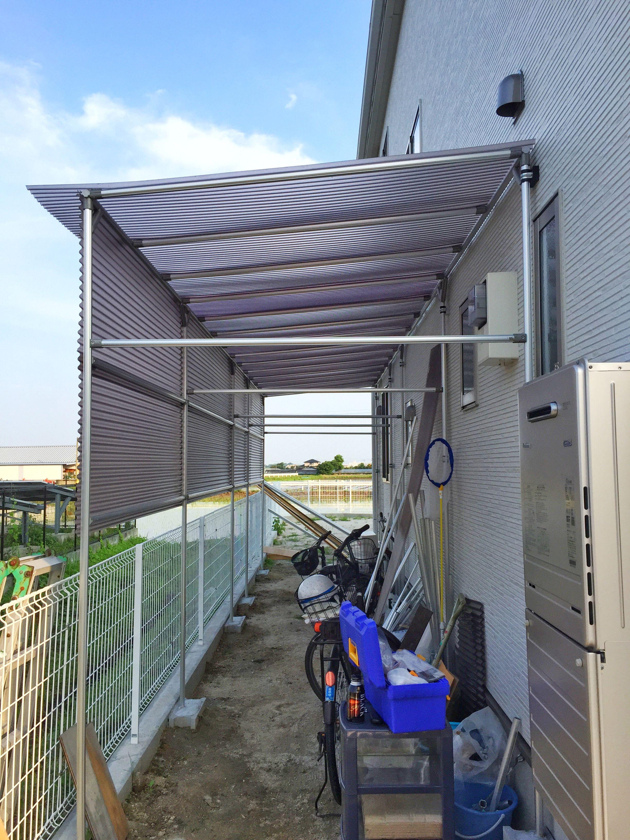 雨避け屋根がある自転車置き場を簡単diy 自転車置き場 自転車小屋