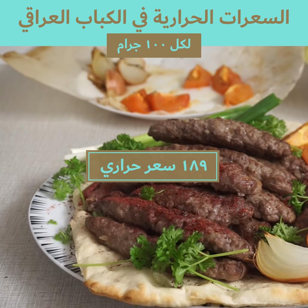 السعرات الحرارية في الكباب العراقي Food Nutrition Calorie