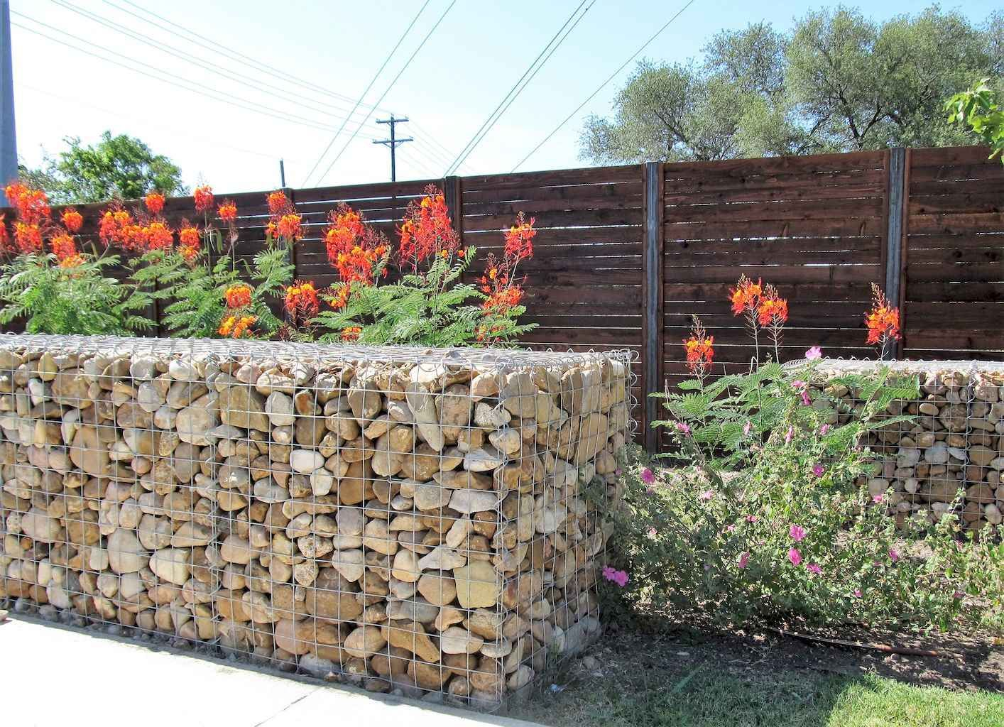55 Gorgeous Gabion Fence Design For Garden Ideas Decorationroom Gabion Fence Fence Design Garden Landscape Design