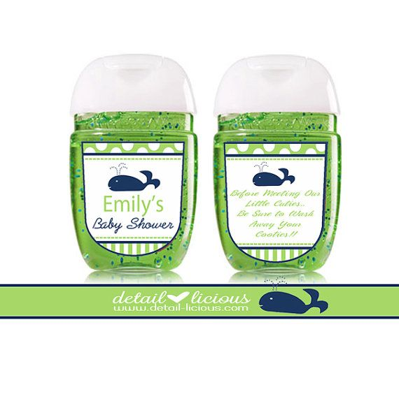 Mini Hand Sanitizer Favors Santizier Pocketbac Baby Shower