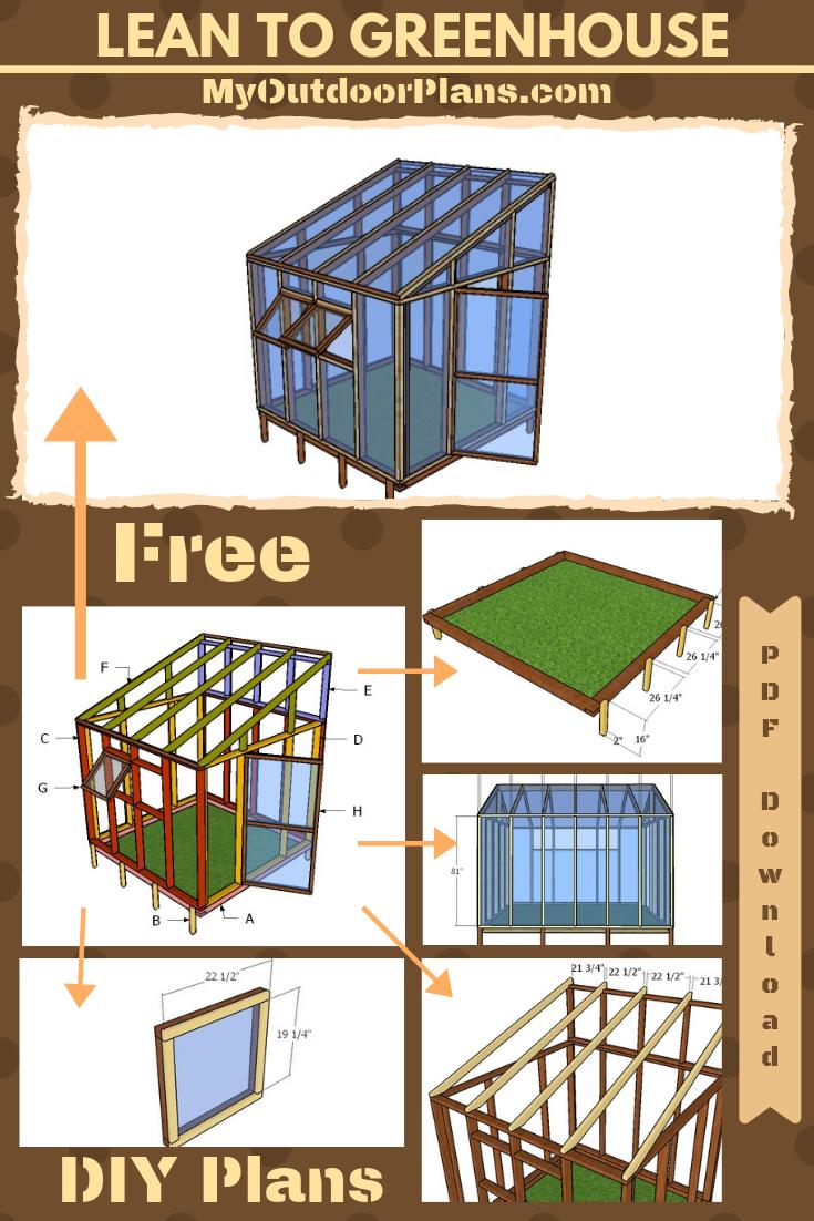 Lean To Greenhouse Plans Free Pdf Download Lean To Greenhouse Greenhouse Plans Diy Greenhouse Plans