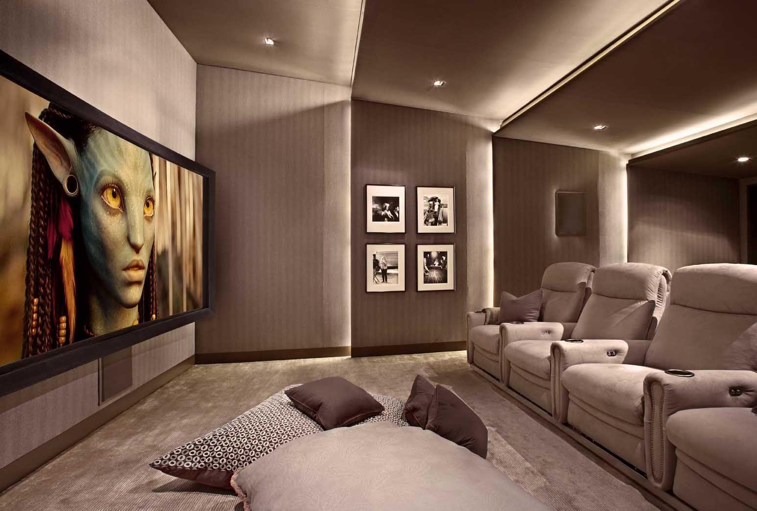 Lower Storey Cinema Room Hometheater Projector Home Theatre