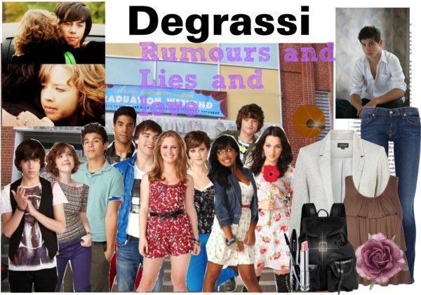 """""""Degrassi"""" by musicbunny ❤ liked on Polyvore"""
