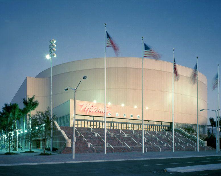 The defunct Miami Arena. Original home to the Miami Heat