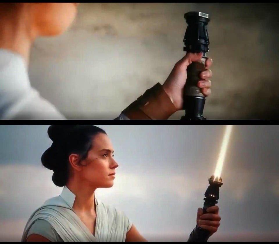 The Rise Of Skywalker Rey Star Wars Star Wars Fandom Lightsaber