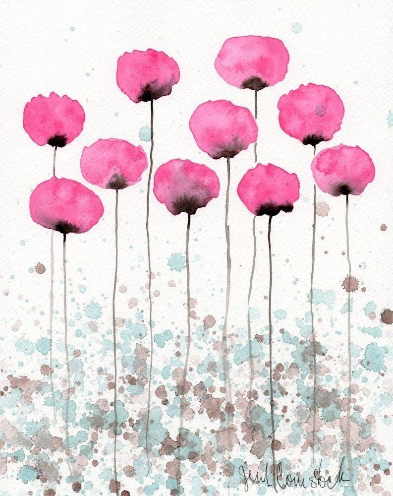 Peinture A Laquarelle Aquarelle Fleur Peintureart Par Popwheelart