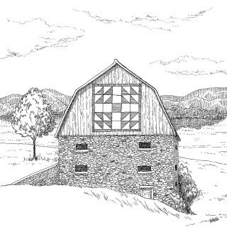 2011 Appalachian Memories Barn Drawings Barn Drawing Canvas