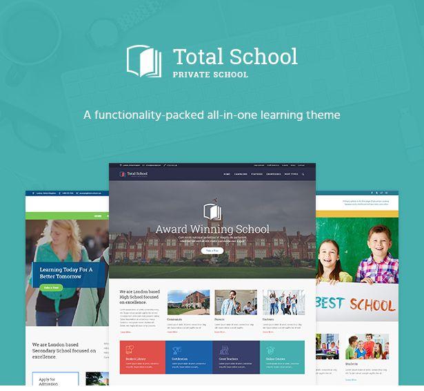Total School Primary Secondary High School Education Wordpress Theme Primary Education Wordpress Themes High School Education School Learning Websites