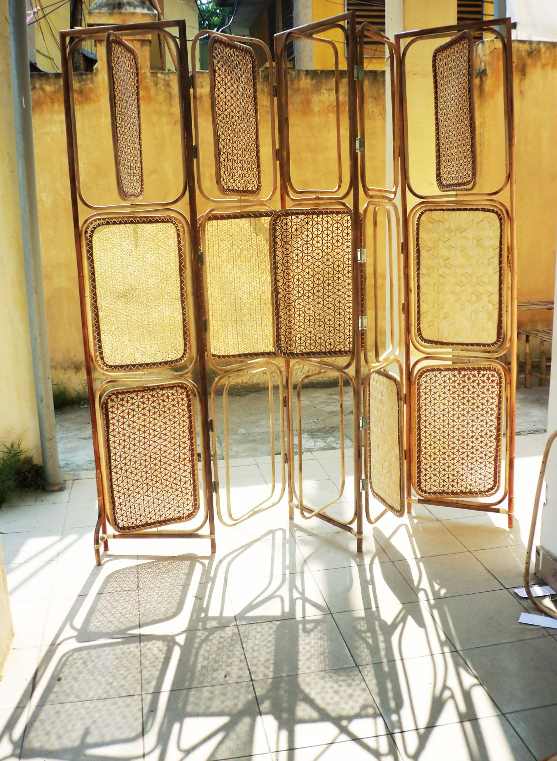 Rattan & weaving bamboo partition on Behance | Art | Pinterest ...