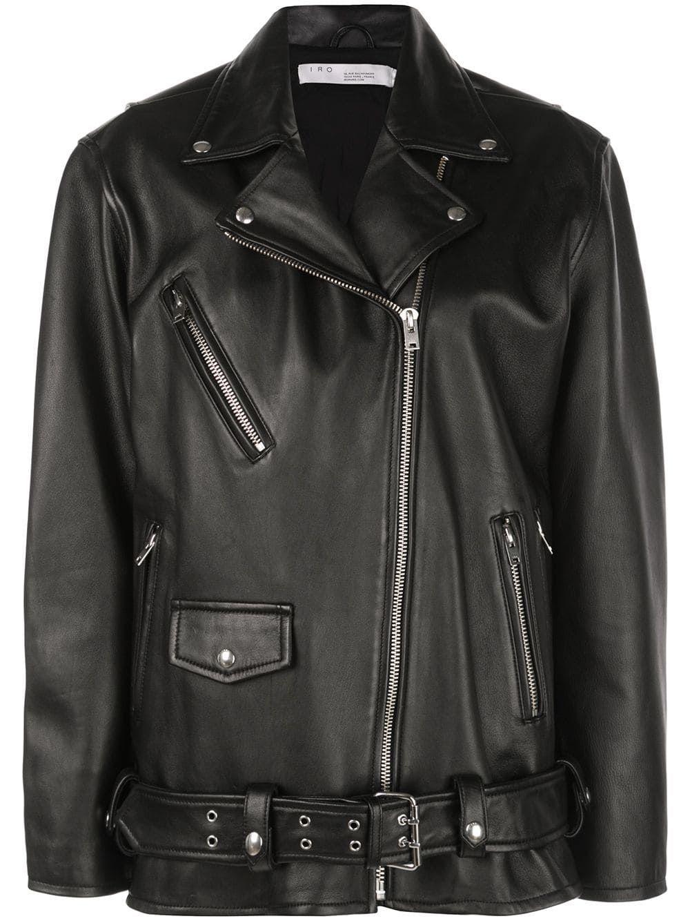 Iro oversized biker jacket Black Biker jacket, Jackets
