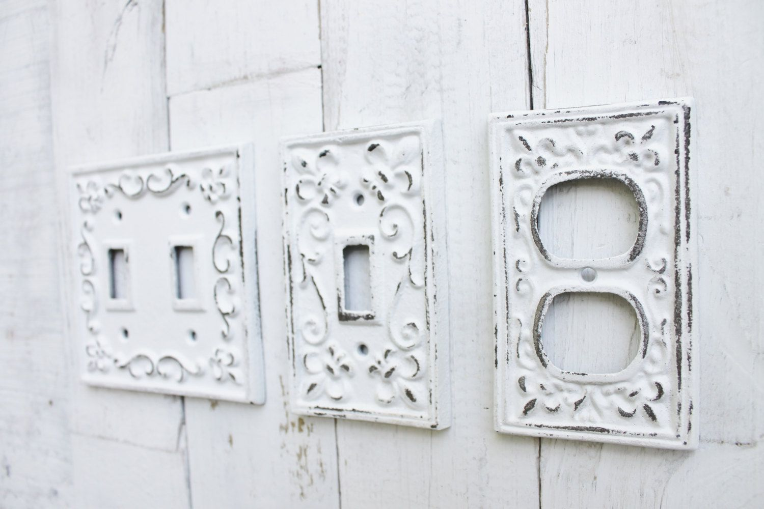 White Decorative Light Switch Covers Light Switch Coverdouble Iron Switch Platesingle Switch Plate