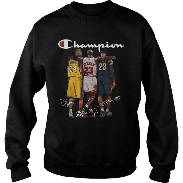 e8ab71a7 Kobe Bryant Michael Jordan and LeBron James Champion shirt - Shop funny t- shirt