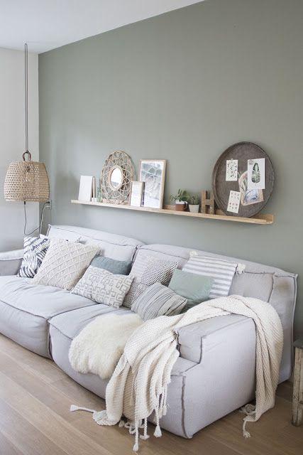 SCANDIMAGDECO Blog: Inspiration Deko Interieur raucht graues oder grünes Wasser, weiß #wohnzimmer