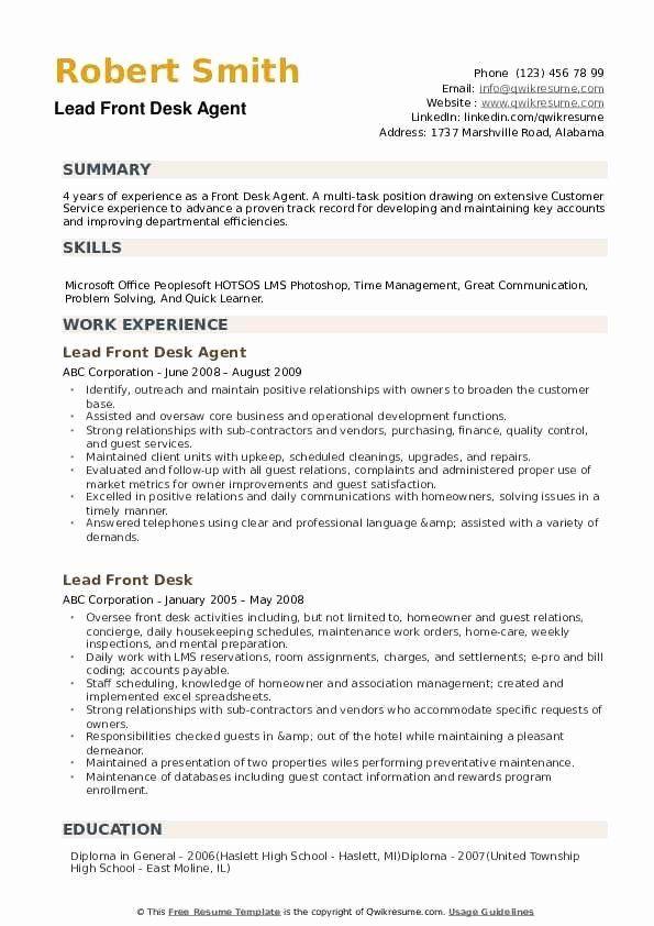 Hotel Front Desk Job Description Resume Best Of Front Desk Agent Resume Samples Resume Examples Resume Summary Examples Resume Summary