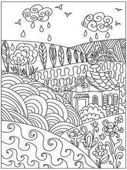 Plumes mandala paysage zentangle banque d arts pla - Mandala paysage ...
