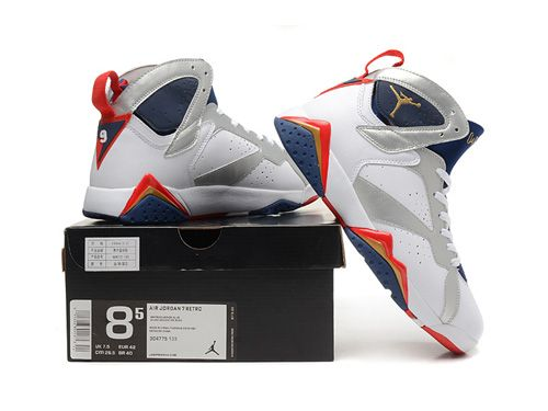 100% authentic e6384 158de 2004 NIKE AIR JORDAN 7 VII RETRO Olympic 304775-171 AAA,Price  80