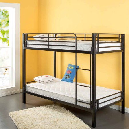 Sleep Revolution Spring 6 Inch Bunk Bed Mattress Twin Black
