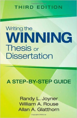 Writing The Winning Thesi Or Dissertation 3rd Ed Service Practical Implication Part Of