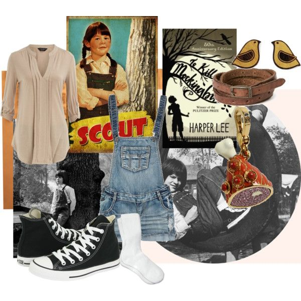 """Scout Finch-To Kill a Mockingbird""-Polyvore why did I not ..."