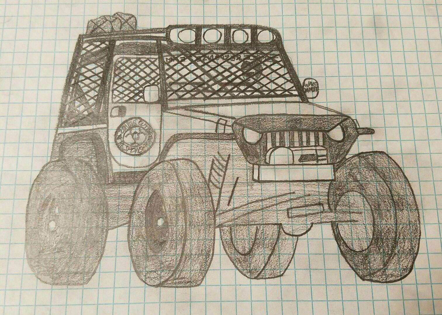 Zombie Apocalypse Response Team Jeep Wrangler Tj Drawn By Me Pimped Red Rubicon Boats