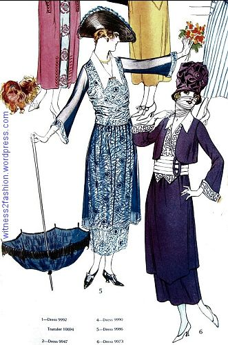 Summer Dresses from Butterick, July 1918, Part 1 | 18 epi 1 1918 ...