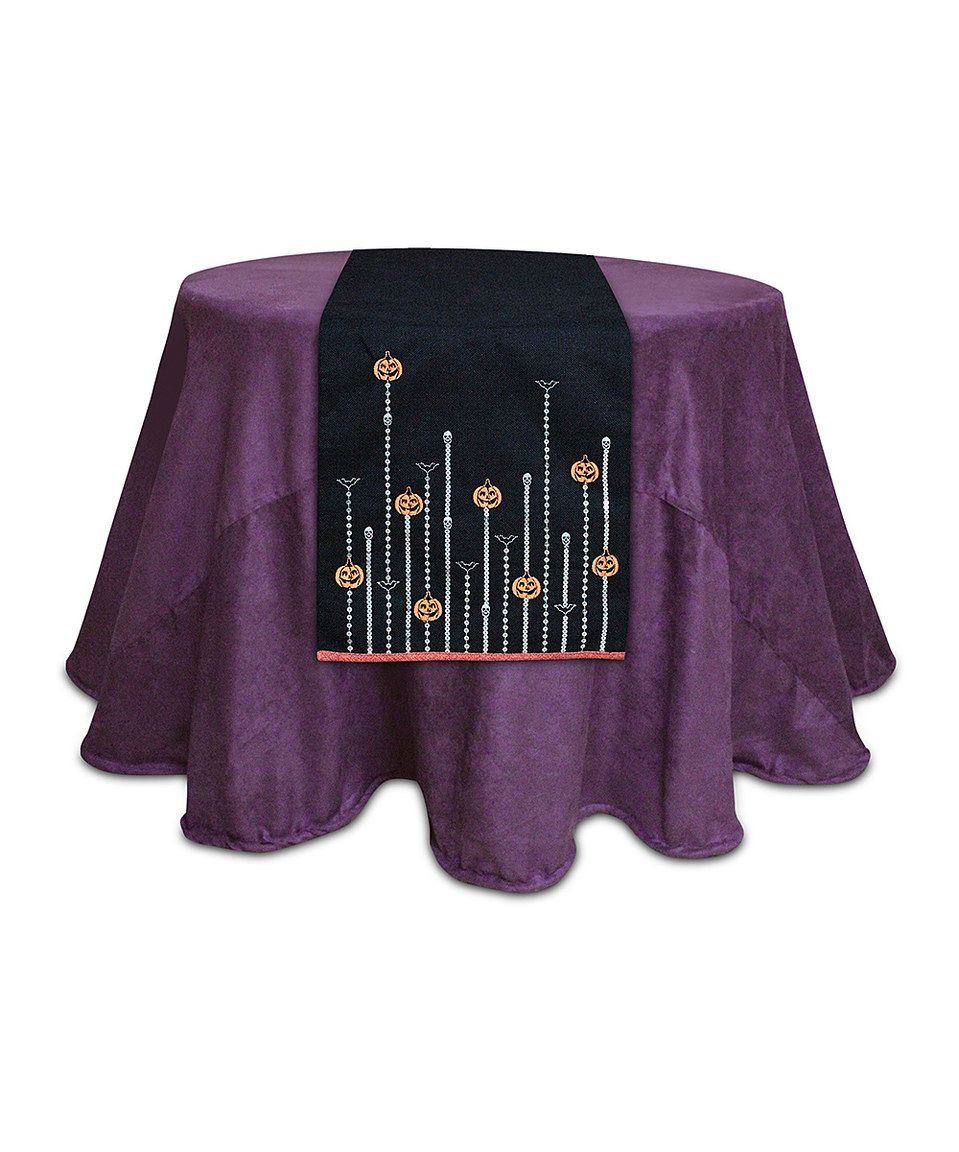 This Jack-o'-Lantern Table Runner by Melrose is perfect! #zulilyfinds