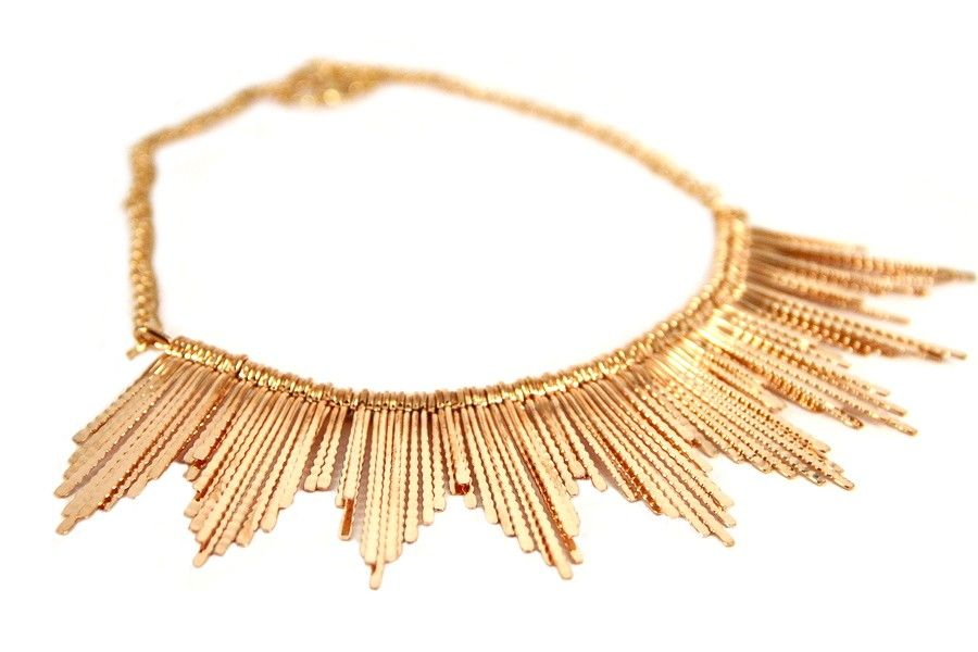 collier couleur or