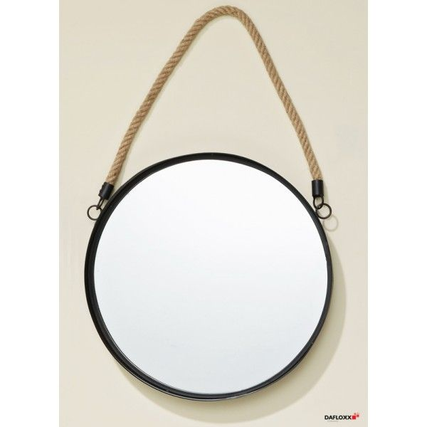 wandspiegel rund mit seil g ste wc pinterest wandspiegel wandspiegel rund und spiegel. Black Bedroom Furniture Sets. Home Design Ideas