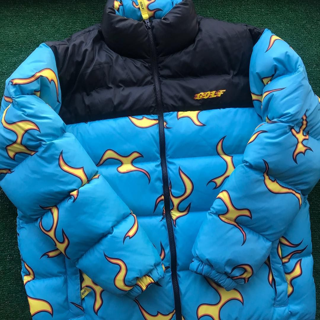 Golf Wang Flame Puffy Jacket Swag Outfits Men Golf Wang Outfit Jackets [ 1080 x 1080 Pixel ]