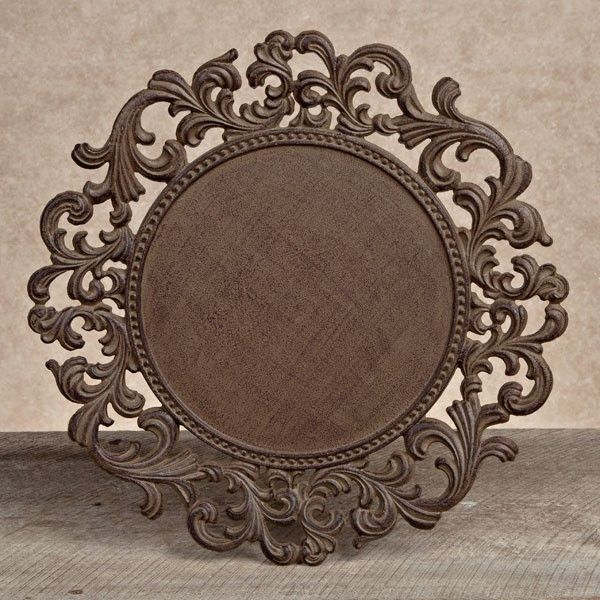 gg collection gracious goods round metal charger plates 4 - Gg Collection