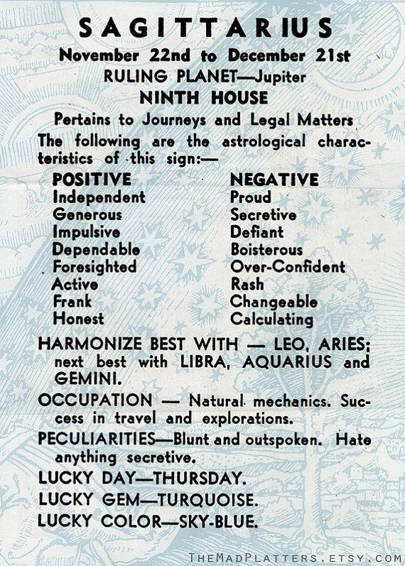 Sagittarius constellation zodiac on Plate Nov. by ...