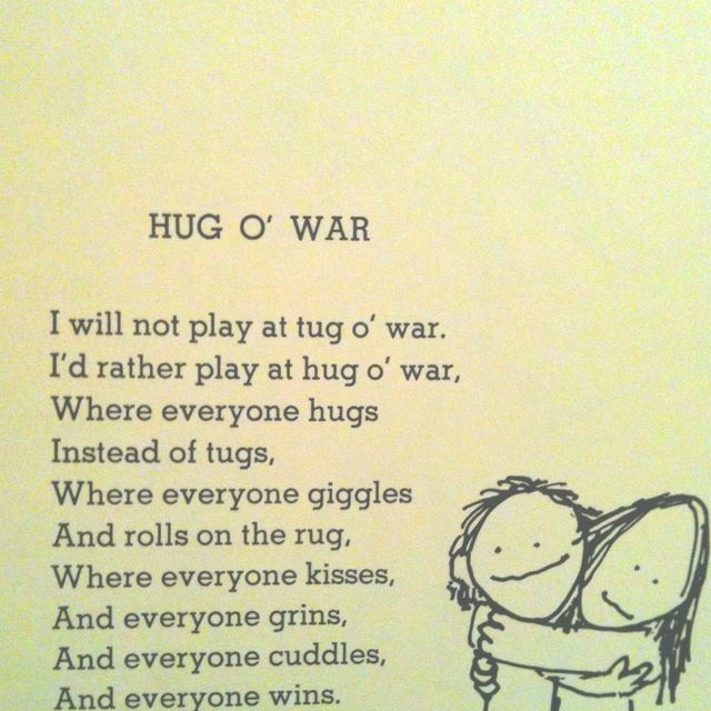 HUGS! Shel Silverstein <3 | Funny Stuff to share with Your ...