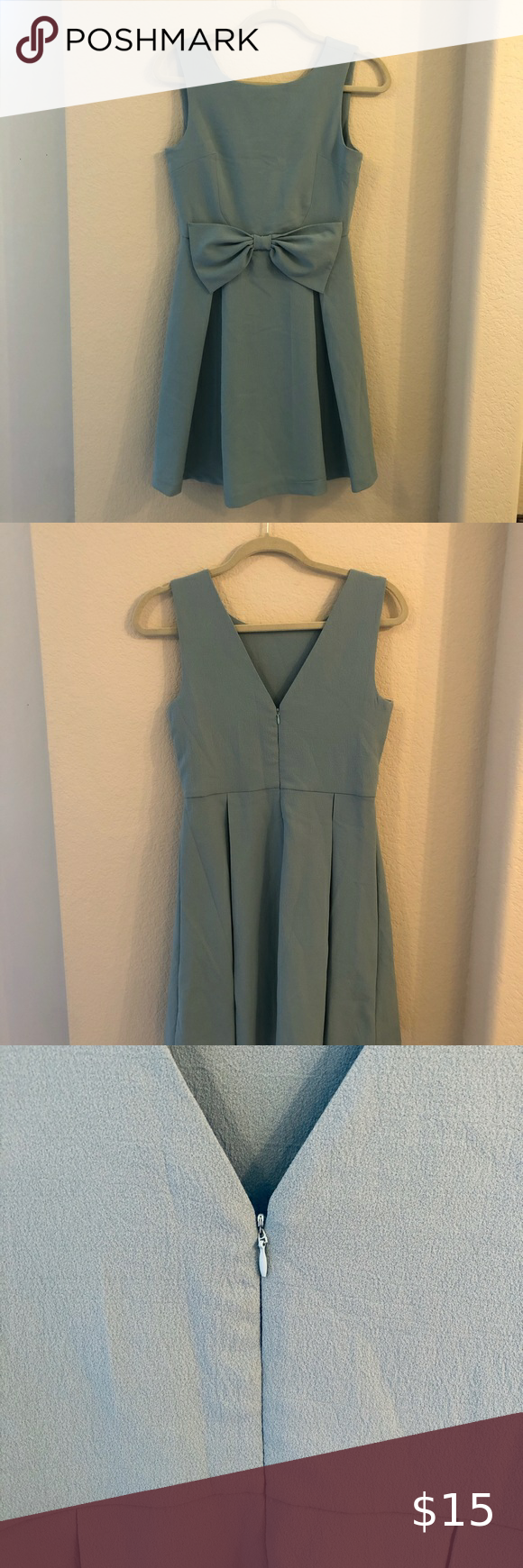 Photo of Modcloth Dress Size M / worn once for a photo shoot. beautiful robin's egg blu…