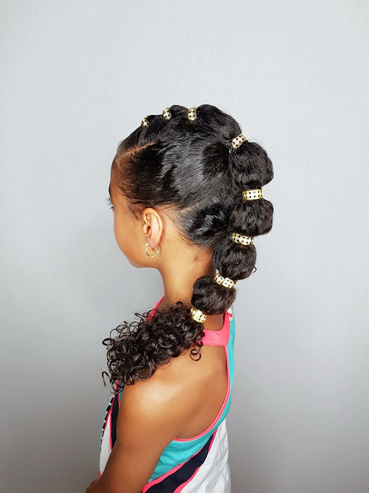 Poodlepuff Mohawk Hairstyles For Curly Little Girls Blackhairstylesforlonghair Kids Curly Hairstyles Natural Hairstyles For Kids Natural Hair Styles