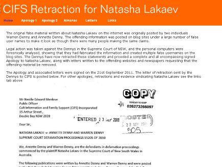 Apology Letter For Natasha Lakaev  Natasha Lakaev