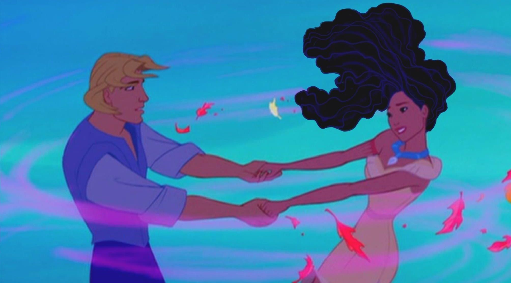 Disney's Pocahontas trades in her straight do for a perm! -- Colors of the Wind