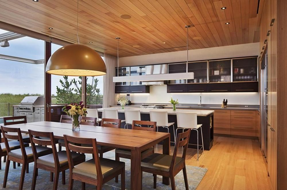Home Design, Open Sapce Beach House With Elegant Metal Screen: Stunning Open  Concept House Plans Designs With Photos