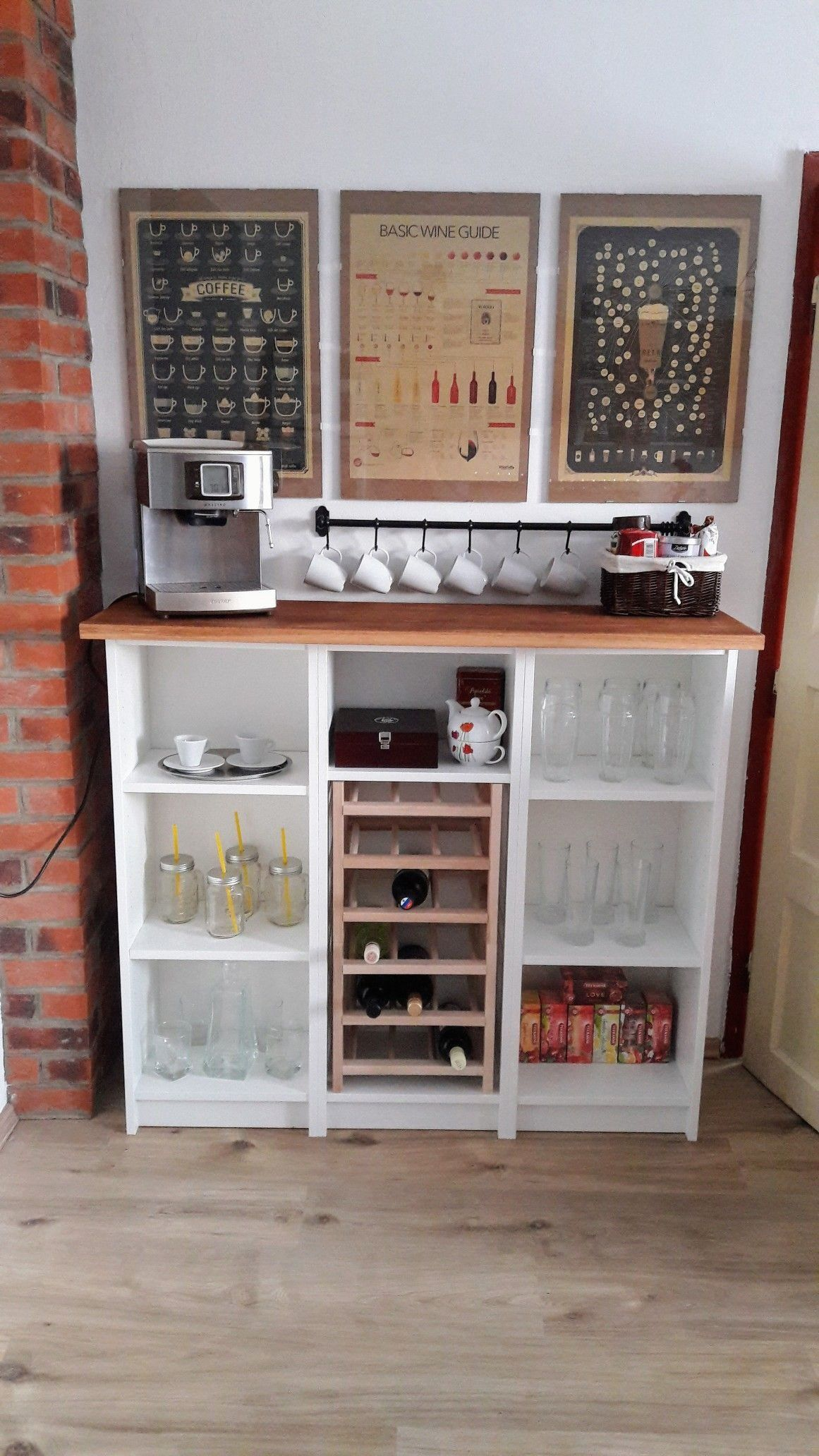 Diy ikea billy coffee wine bar 1000 in 2020 ikea diy