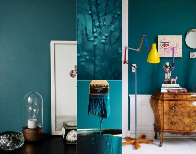 Wandfarbe Petrol, Ihre Wirkung Und Ideen Für Farbkombinationen  #farbkombinationen #ideen #petrol #