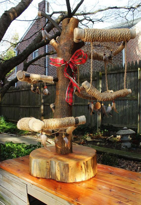 Dream Catcher Cat Tree Rustic Cat Furniture Custom Cat