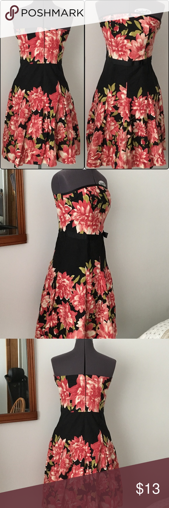 3for 12 Speechless Strapless Pink Floral Dress Floral Dress Black Pink Floral Dress Floral Dress [ 1740 x 580 Pixel ]