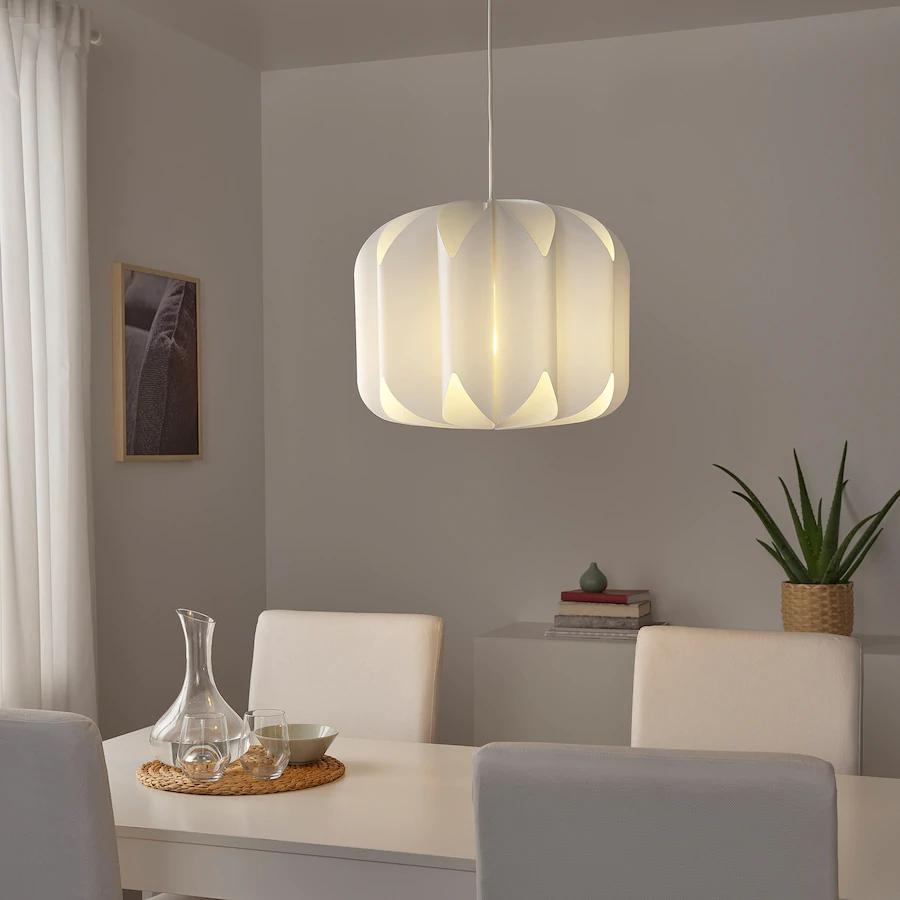 MOJNA Pendant lamp shade - textile/white - IKEA in 5  Pendant